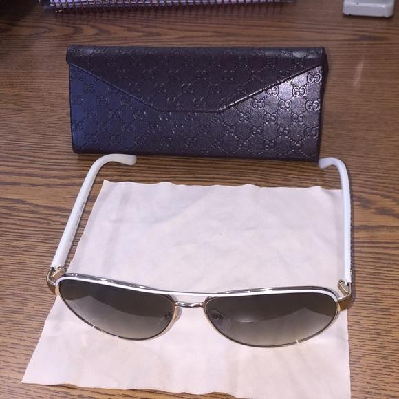 49d12b61f4c Gucci Accessories - Women s Gucci Brown Gradient Aviator Sunglasses